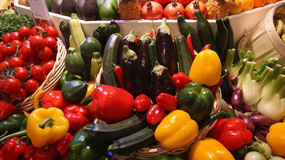 Puesto de vegetales.