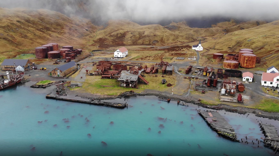 Grytviken whaling station on South Georgia (c) GSGSSI