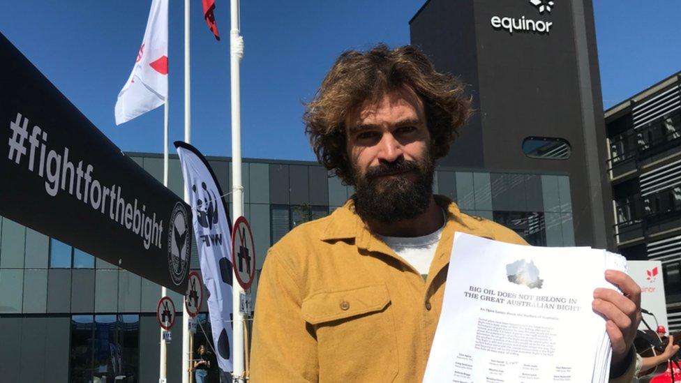 Surfer and campaigner Heath Joske