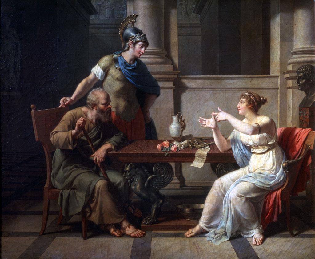 'Sócrates y Alcibíades en Aspasia', 1801. Artista: Nicolas Andre Monsiau