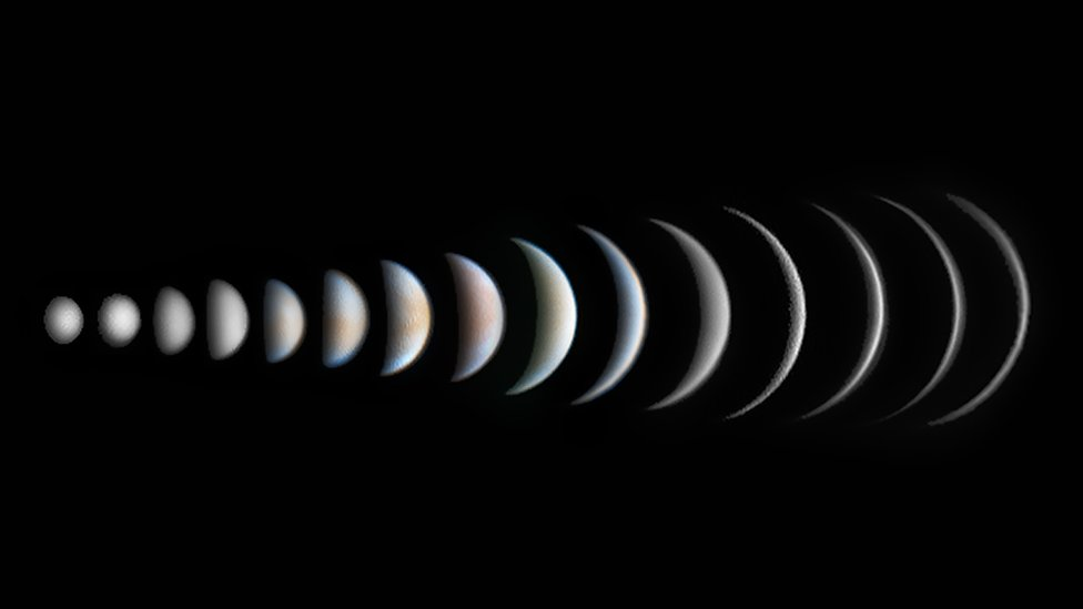 A composite of Venus's faces