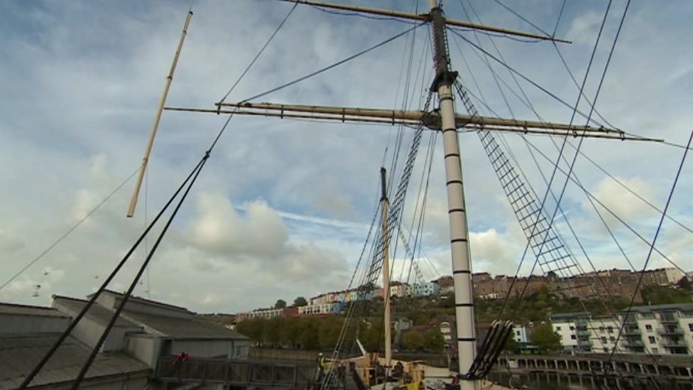 SS Great Britain mast replaced in Bristol