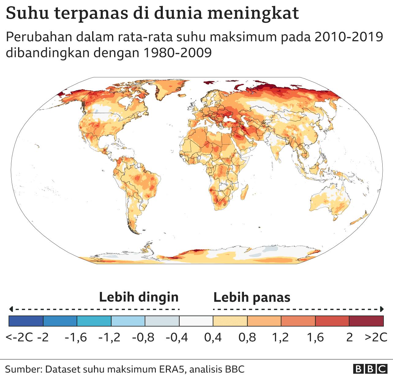 sebaran panas seluruh dunia