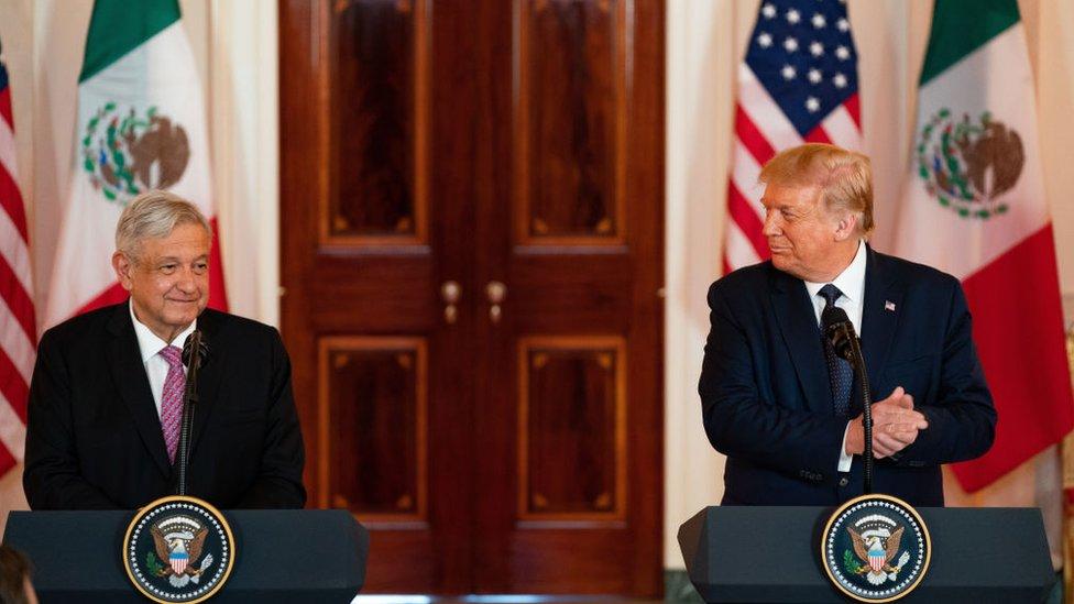 AMLO y Trump el 8 de julio de 2020.
