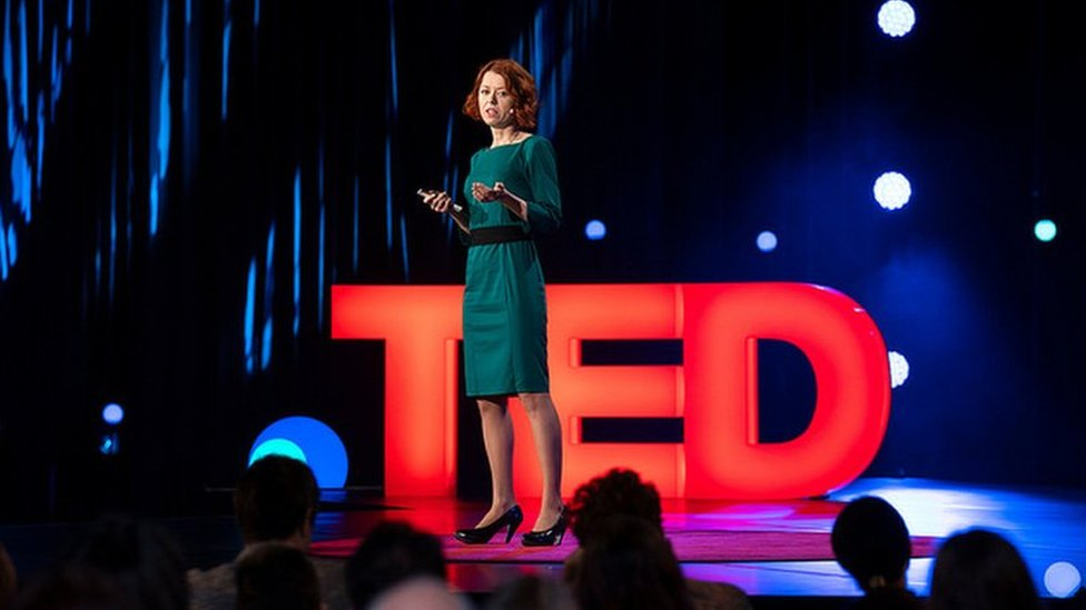 Olga Yurkova on TED stage