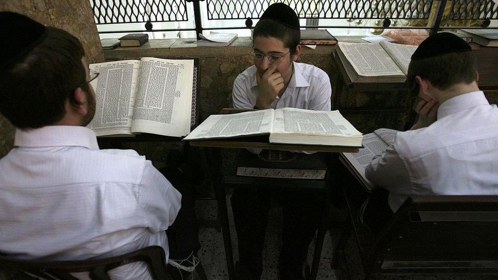 Yeshiva students in Tel Aviv (file photo)