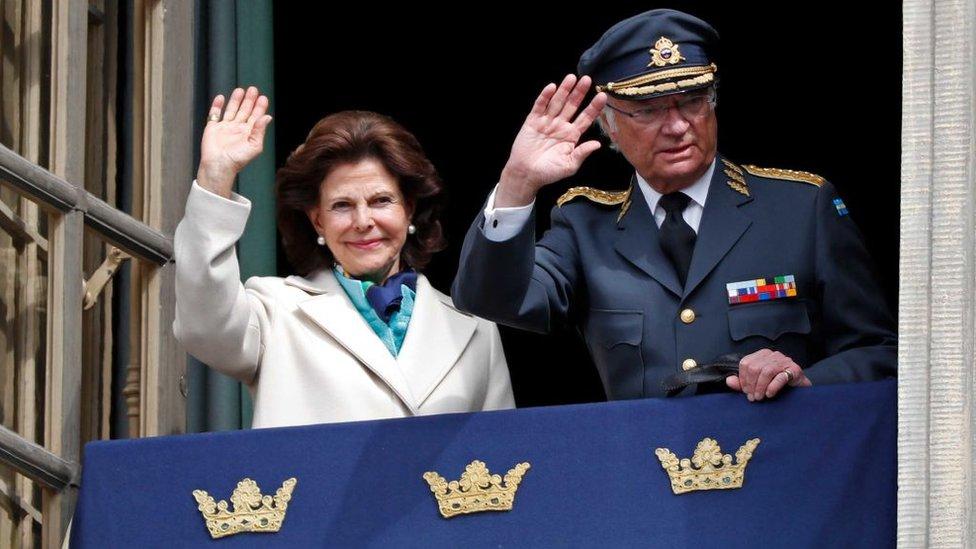Carlos XVI Gustavo y Silvia, reyes de Suecia