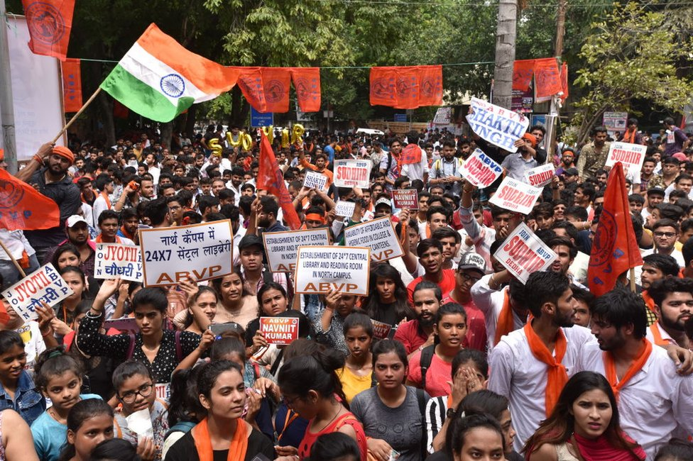 File picture of ABVP protests
