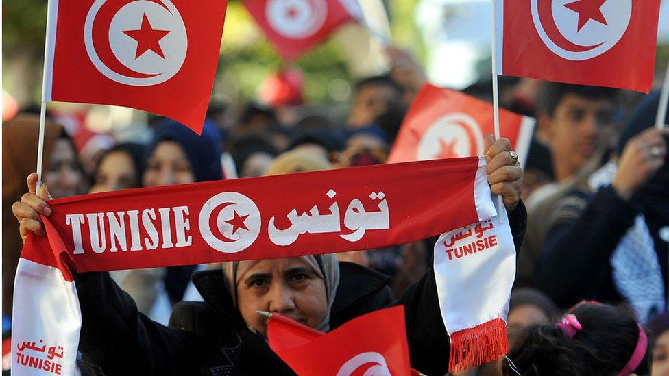 التظاهرات فى تونس