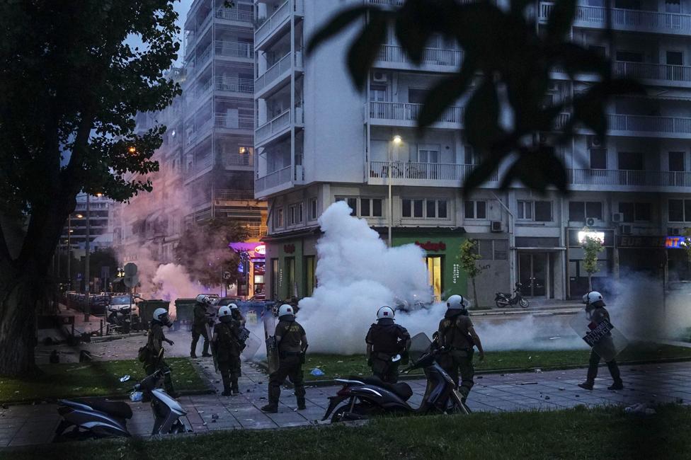 Protest u Solunu