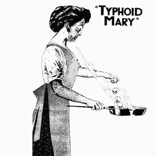 tifoidna meri ilustracija 1909