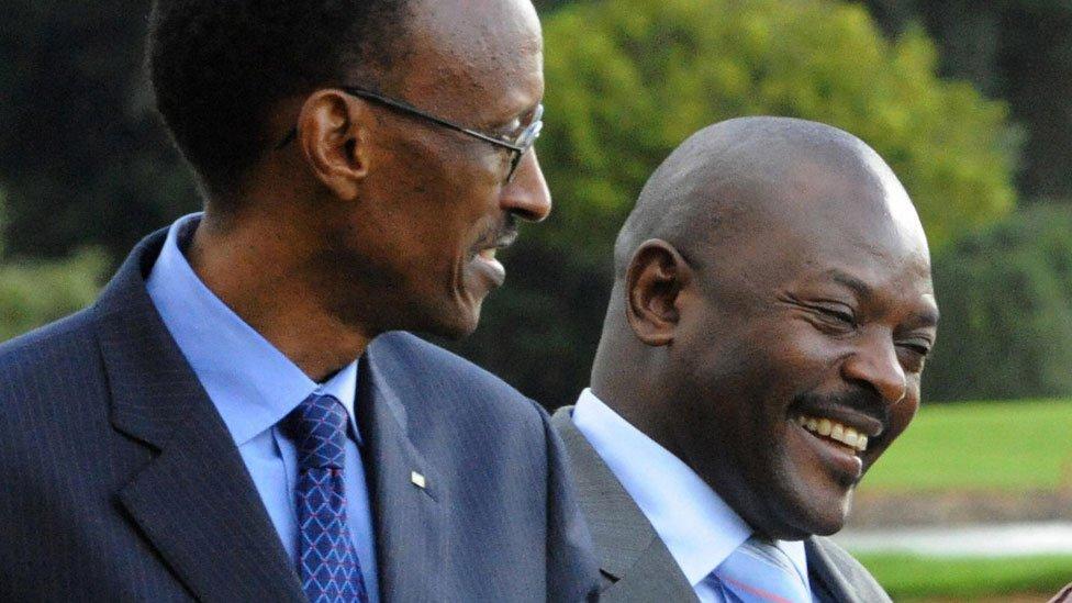 President Kagame (l) and Pierre Nkurunziza - 2008