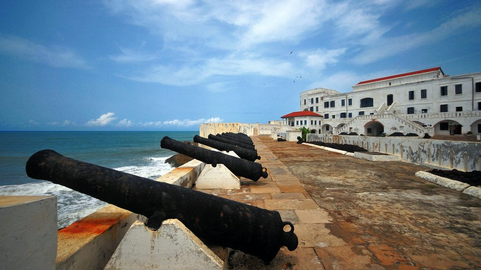 Artillery battery at Cape Coast castle, Ghana