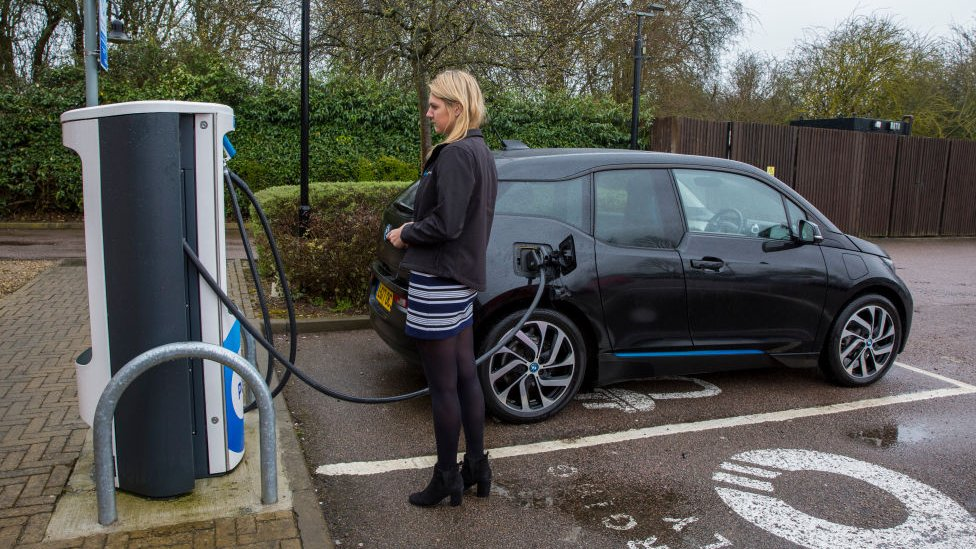 Chargemaster EV charging point in Milton Keynes, UK