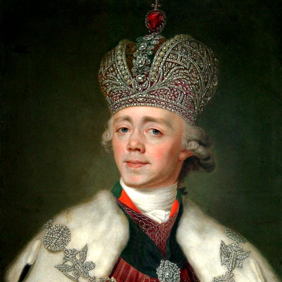 Pablo I de Rusia pintado por Vladimir Borovikovsky
