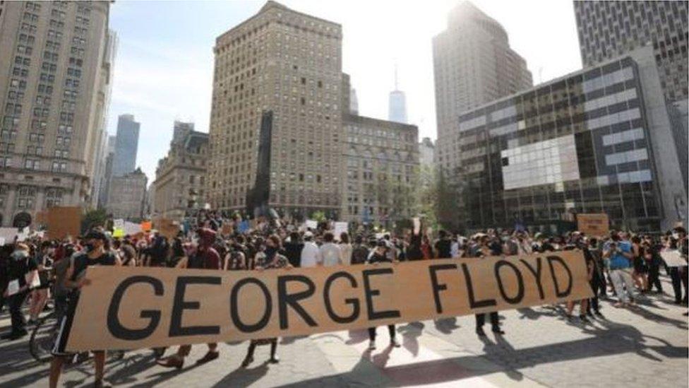 احتجاجات في نيويورك على قتل جورج فلويد