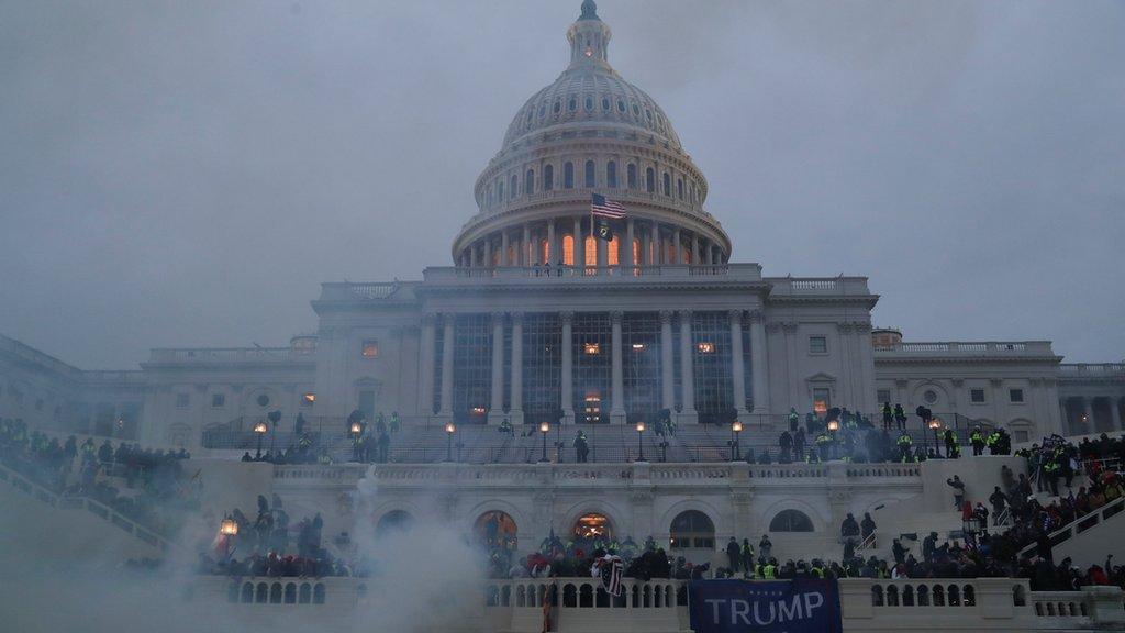 Una panorámica del Capitolio de Washington, que el miércoles fue tomado por simpatizantes del presidente, Donald Trump.