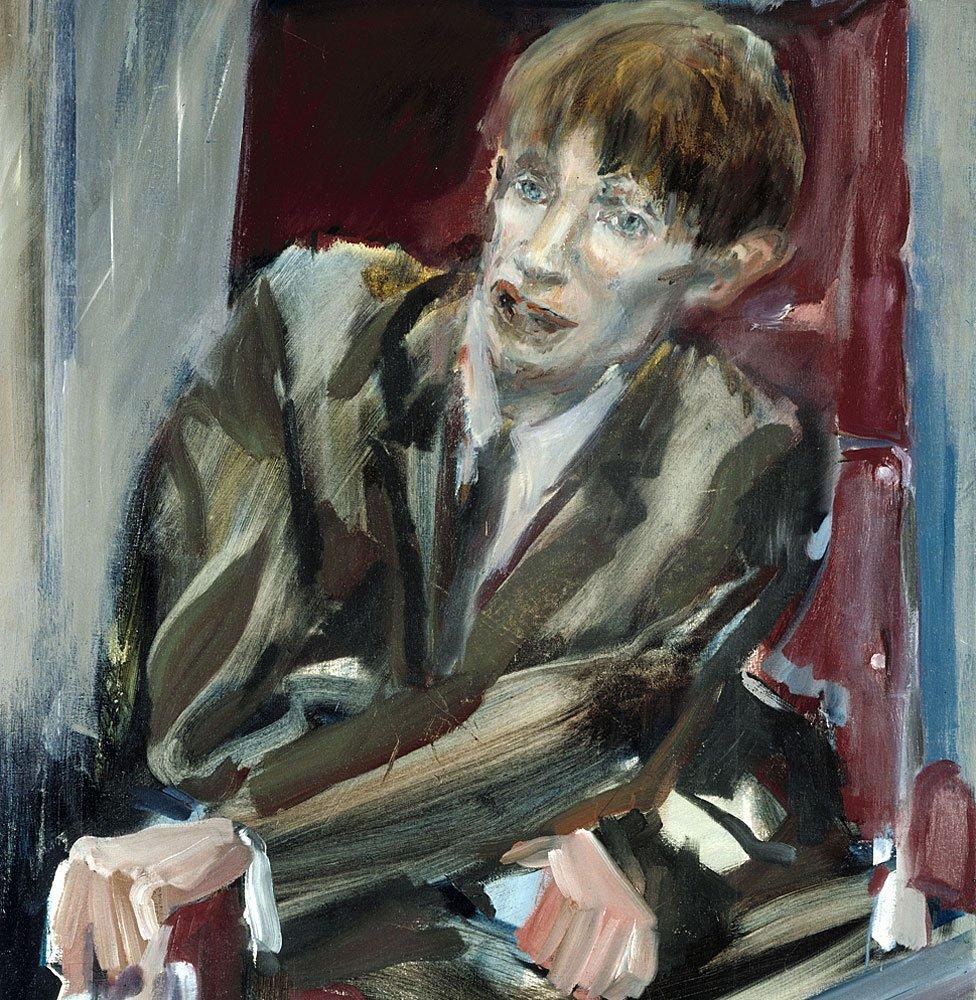 Retrato de Stephen Hawking hecho por Yolanda Sonnabend