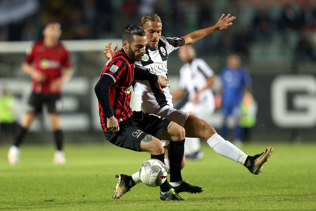 Partido del Pro Piacenza contra el Robur Siena en octubre de 2017.