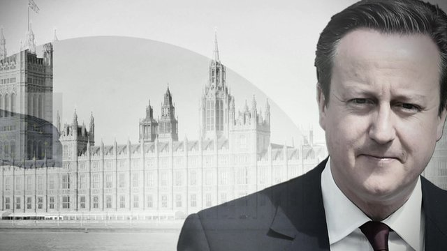 David Cameron in front of House of Parliament