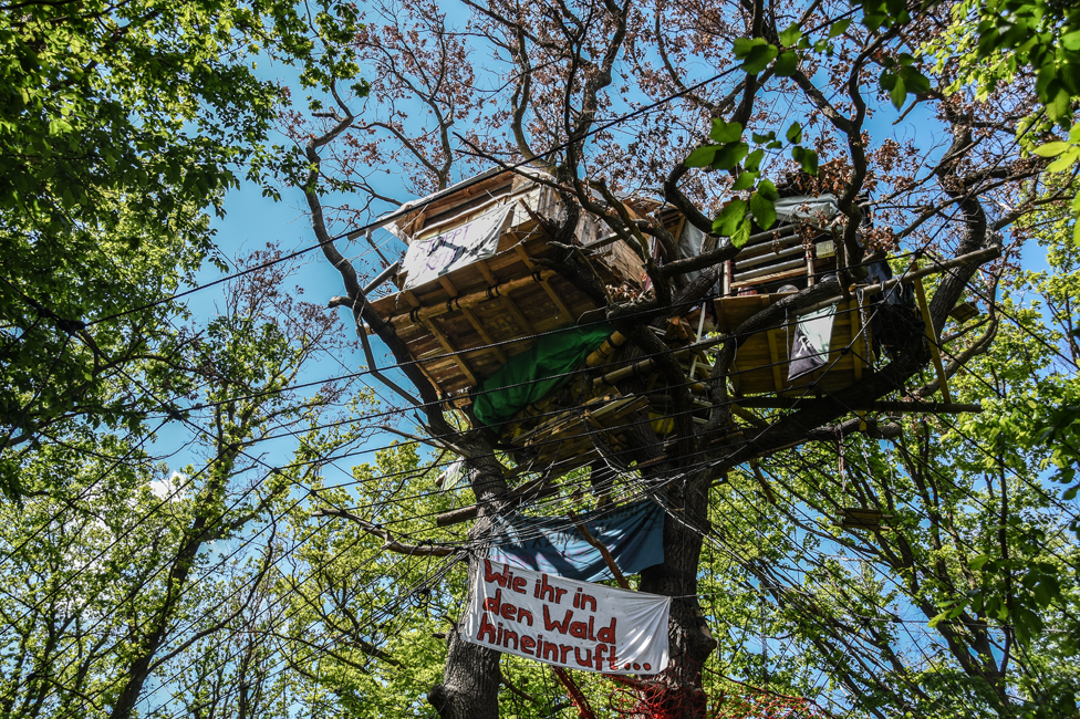 Treehouse in the Hambacher forest