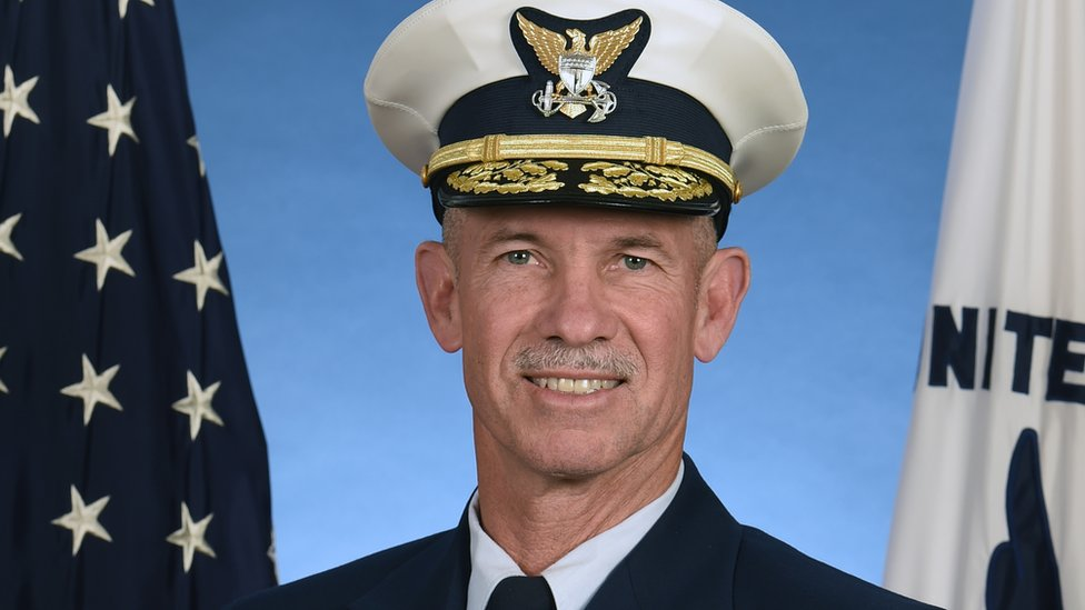 Admiral Charles Ray poses for an official photograph released by the US Department of Homeland Security