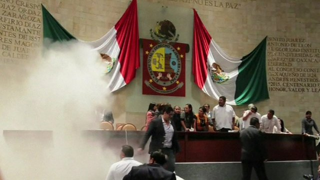 Powder realised in Mexican state congress