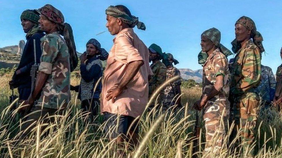 مسلحون من ولاية أمهرة المجاورة لتيغراي يقاتلون في صفوف الحكومة الفيدرالية