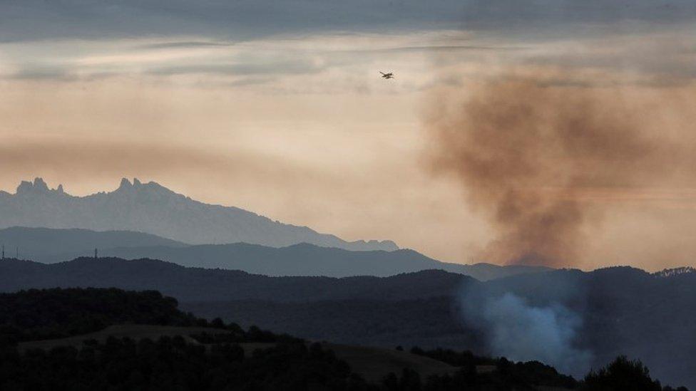 kanader gasi požar