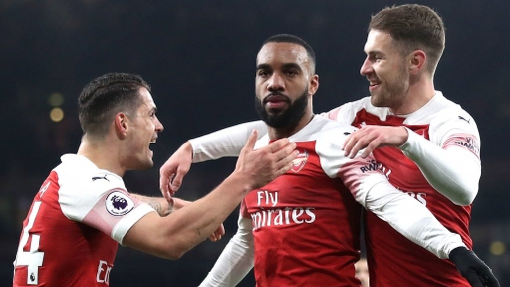 Arsenal 2-0 Chelsea: Alexandre Lacazette and Laurent Koscielny score in important win