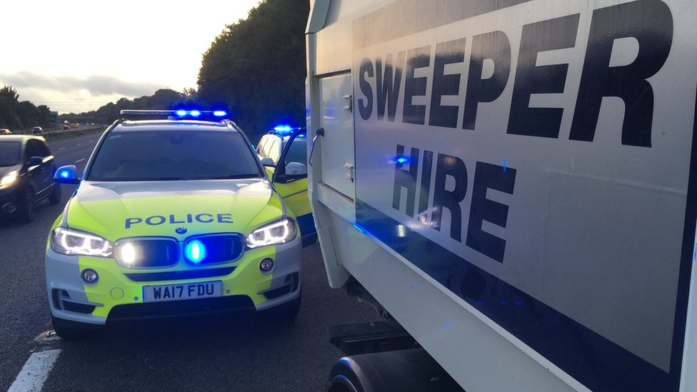 Stolen Landrake road sweeper stopped by police