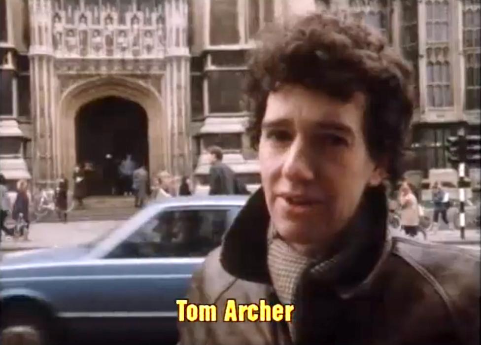 Tom Arčer 1983. godine, kad je još mogao da radi za BBC kao slobodnjak