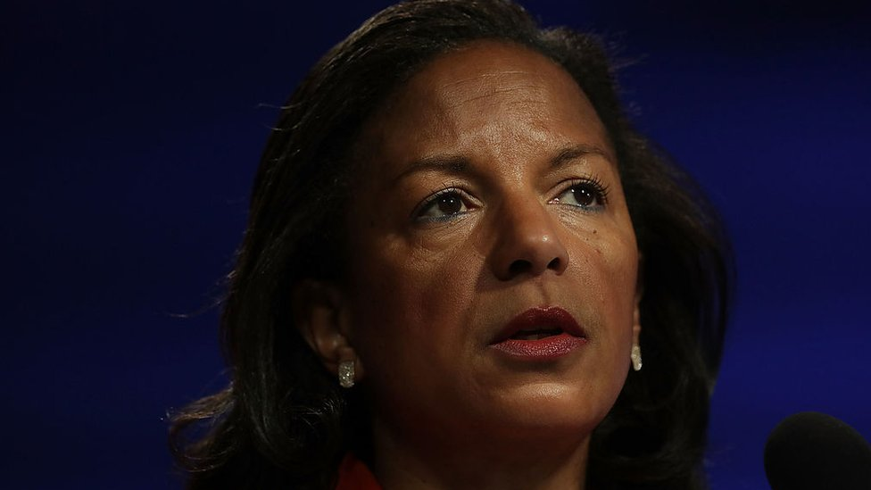 Former National Security Advisor Susan Rice participates in a discussion at the Woodrow Wilson Center in Washington, DC.