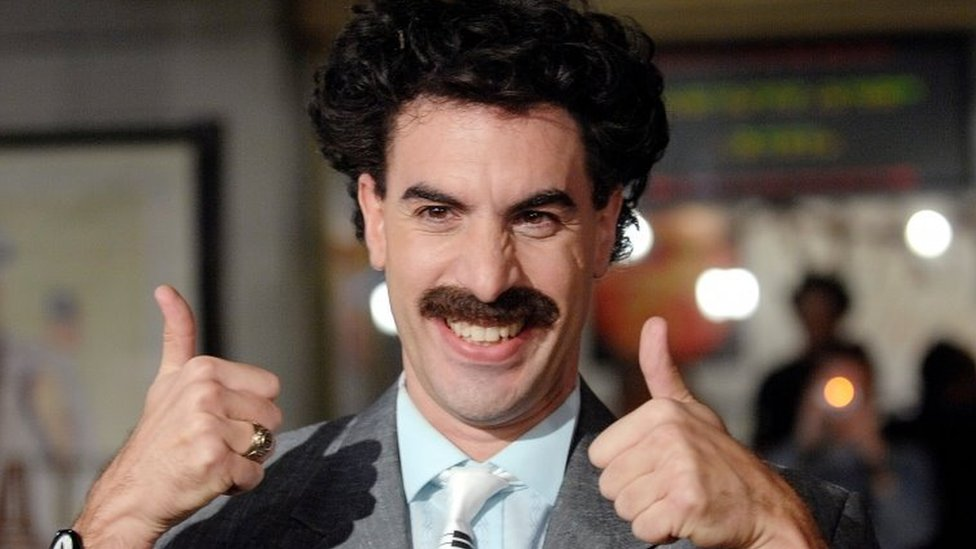 Sasha Baron Cohen in character as Borat