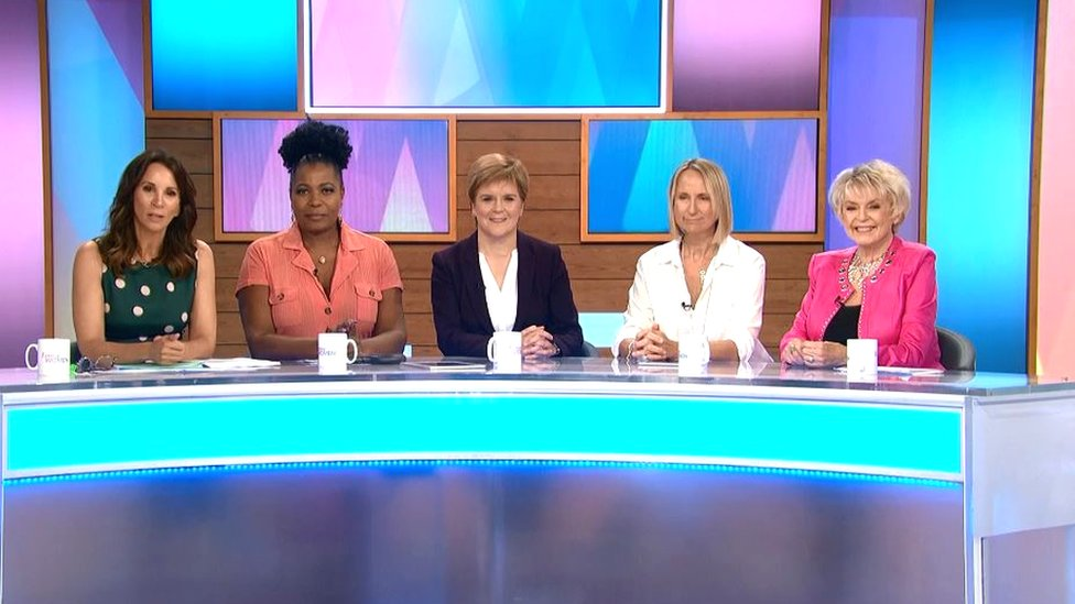 Nicola Sturgeon on loose Women