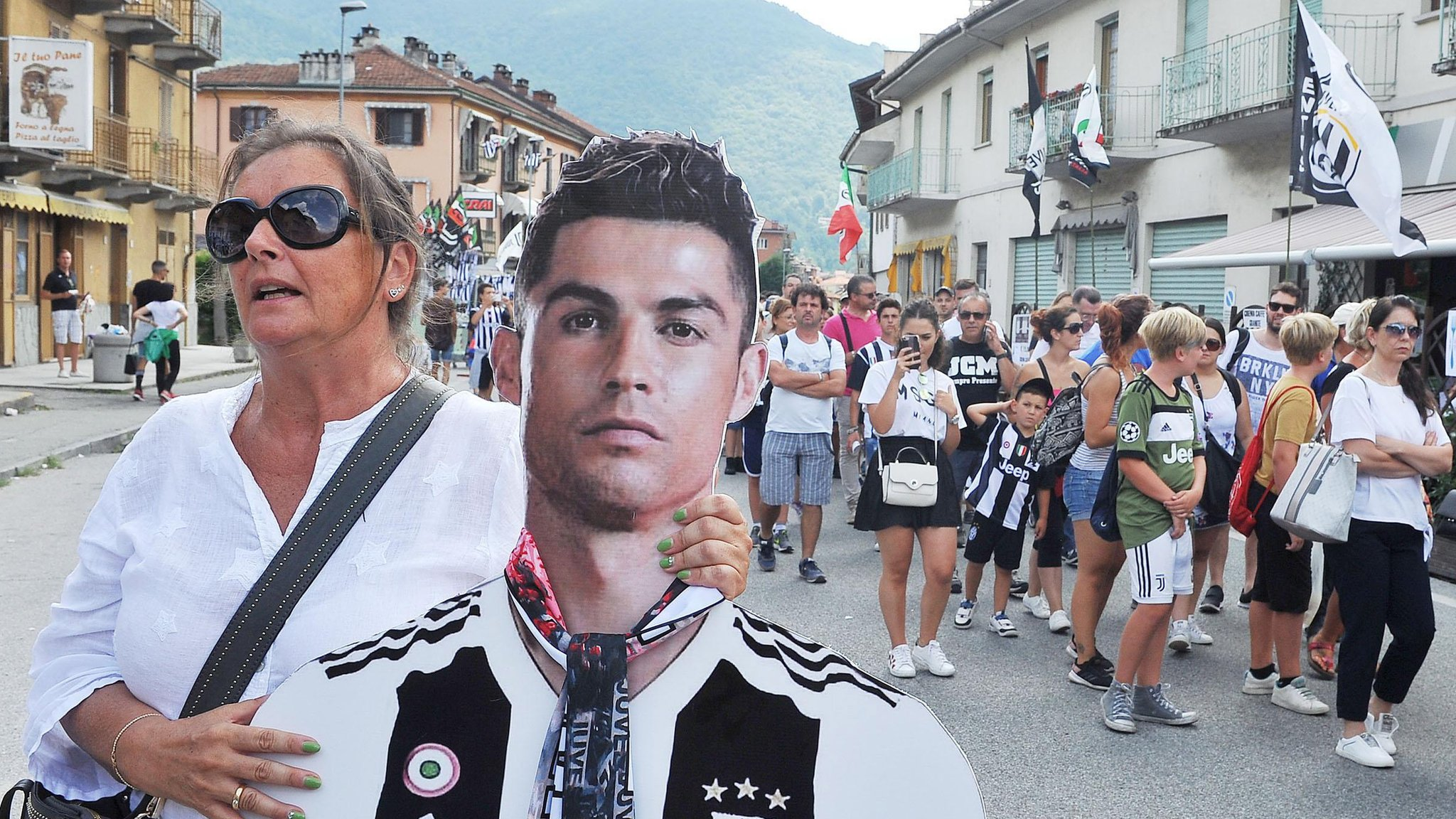 Watch: Ronaldo scores in first Juve game as 5,000 fans swamp town with 4,000 population