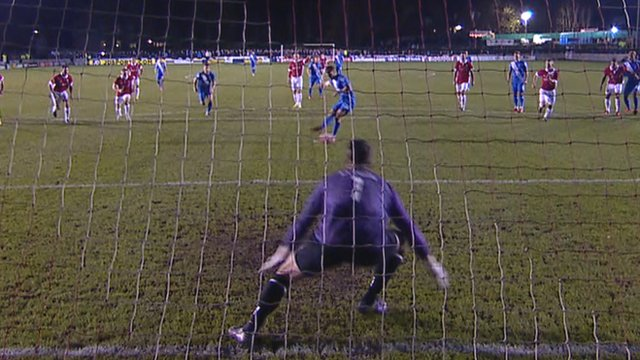 Hartlepool penalty gives them the lead