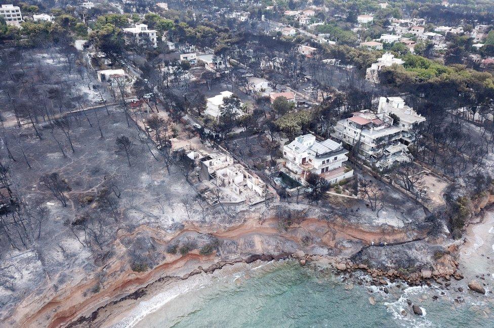 Aerial view of Mati