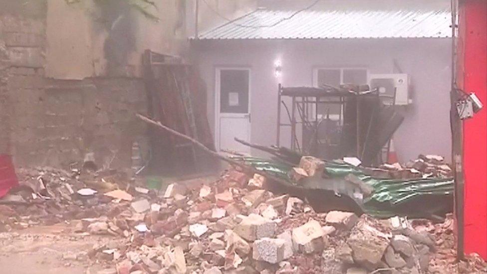 Destruction in Mozambique