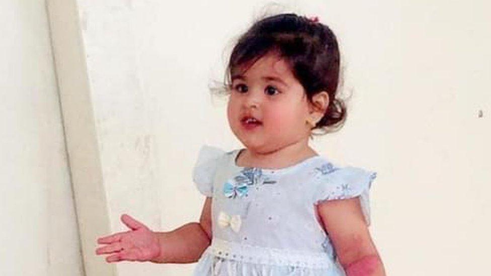 Sumaya, two years old