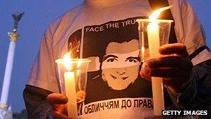 Portrait of slain journalist Georgiy Gongadze
