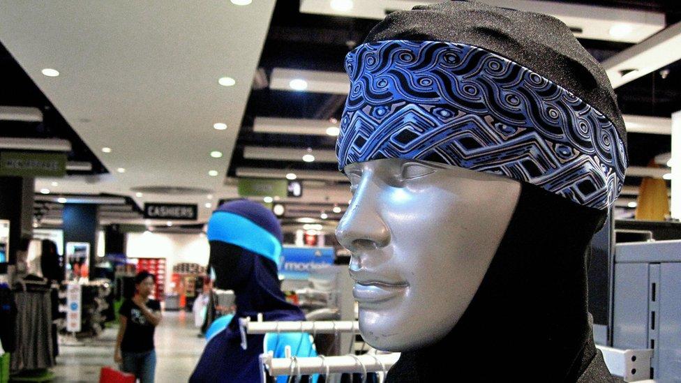 The Islamic full-length swimming suit known as 'burqini'