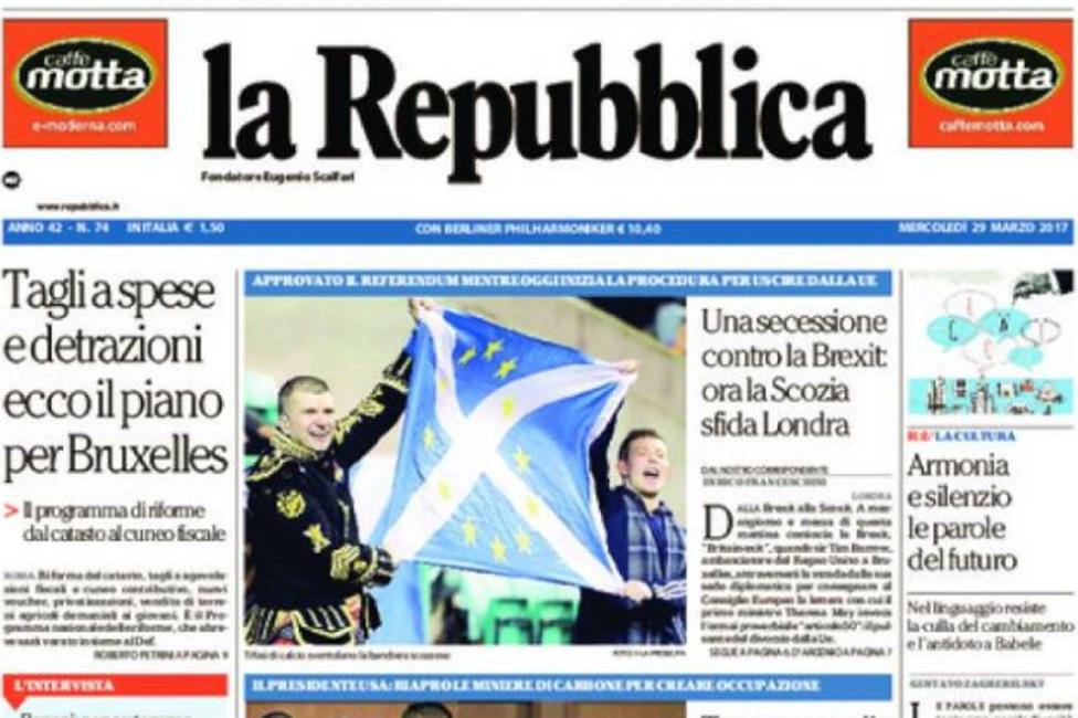 Front cover of La Repubblica