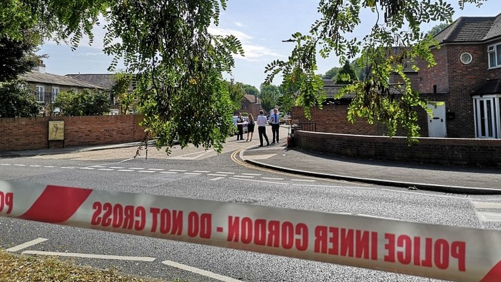 Police cordon in Southall