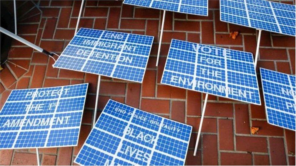 Банери у вигляді сонячних батарей