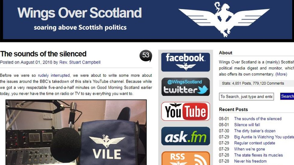 Wings Over Scotland homepage