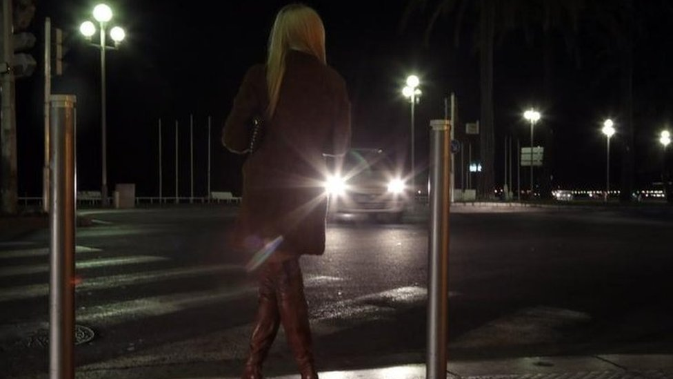 Sex worker in Nice, file pic