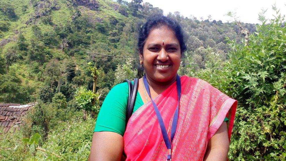 Thiruchelvi in a rural setting