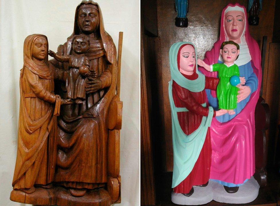 Statue pre i posle restauracije