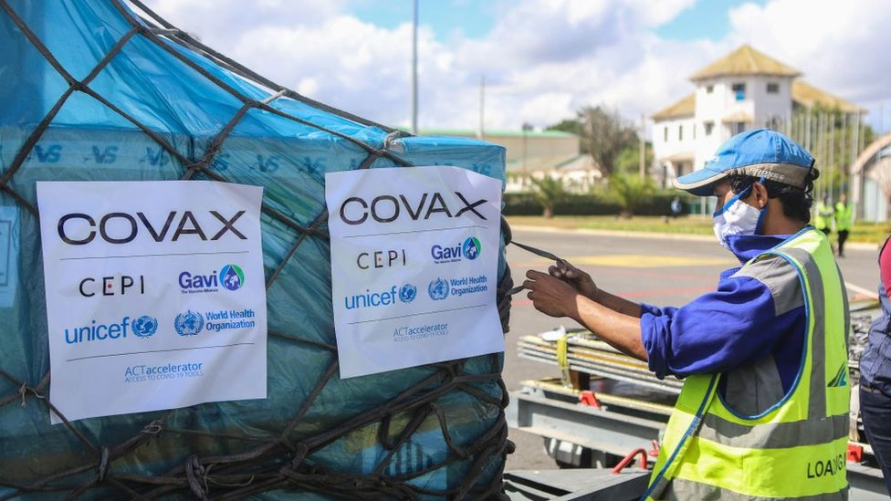 Covax envió vacunas AstraZeneca a Madagascar en mayo de 2021.